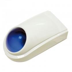 Sirena de exterior cableada para alarmas de seguridad Color blanco
