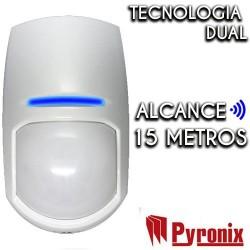 Detector cableado Pyronix para interior de grado 2, 15 m y 85º