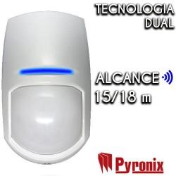 Detector Pyronix interior de doble tecnología grado 3 con antimasking