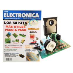 Kit electrónico para montar: Luz de emergencia + Revista Todoelectronica Nº50