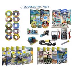 Pack Curso de Electrónica + Curso de Energías Renovables Todoelectronica