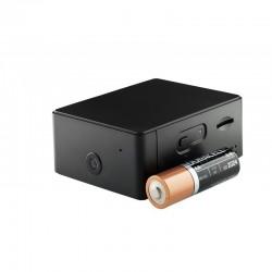 Mini cámara HD y micrófono espía inteligente WiFi portátil