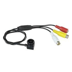 Cámara espía y de vigilancia ultraminiatura cableada 800 líneas con audio y gran angular