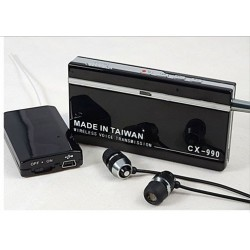 Kit Micrófono UHF espía receptor-transmisor profesional de largo alcance