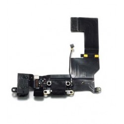 Cable Flex Carga y Auricular Iphone 5S Negro