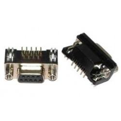 Conector DB9 hembra SUB-D circuito impreso
