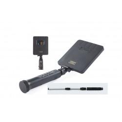 Detector no lineal con antena de 800 MHz y de 2400 MHz con analizador de espectro