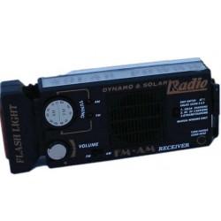 Radio y linterna solar