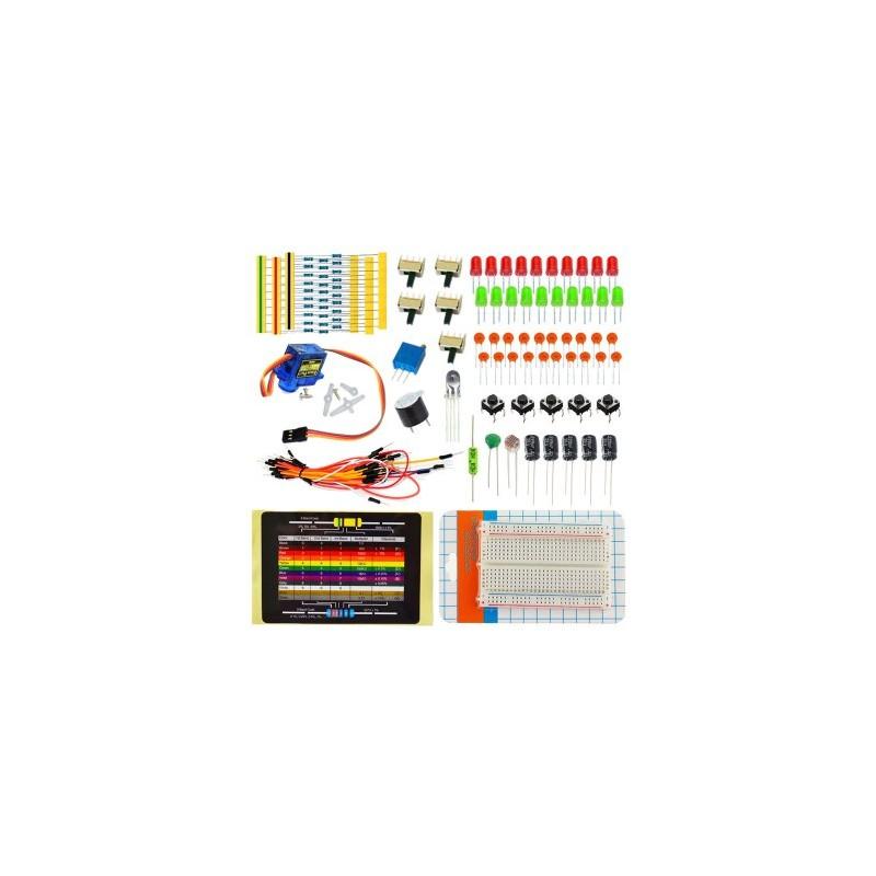 Kit básico Funduino/Arduino 21 Componentes. Compatible con Arduino