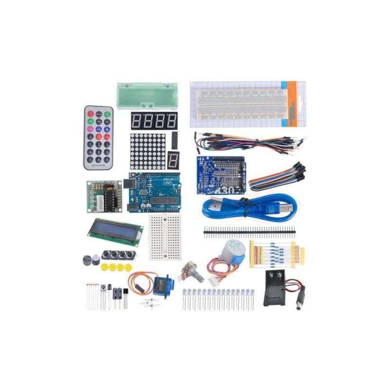 Kit Funduino UNO-R3+motor+LCD+Placas+Puentes compatible con Arduino