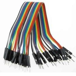 Cable dupont de 40 vías 20cm macho-macho de hilo de cobre