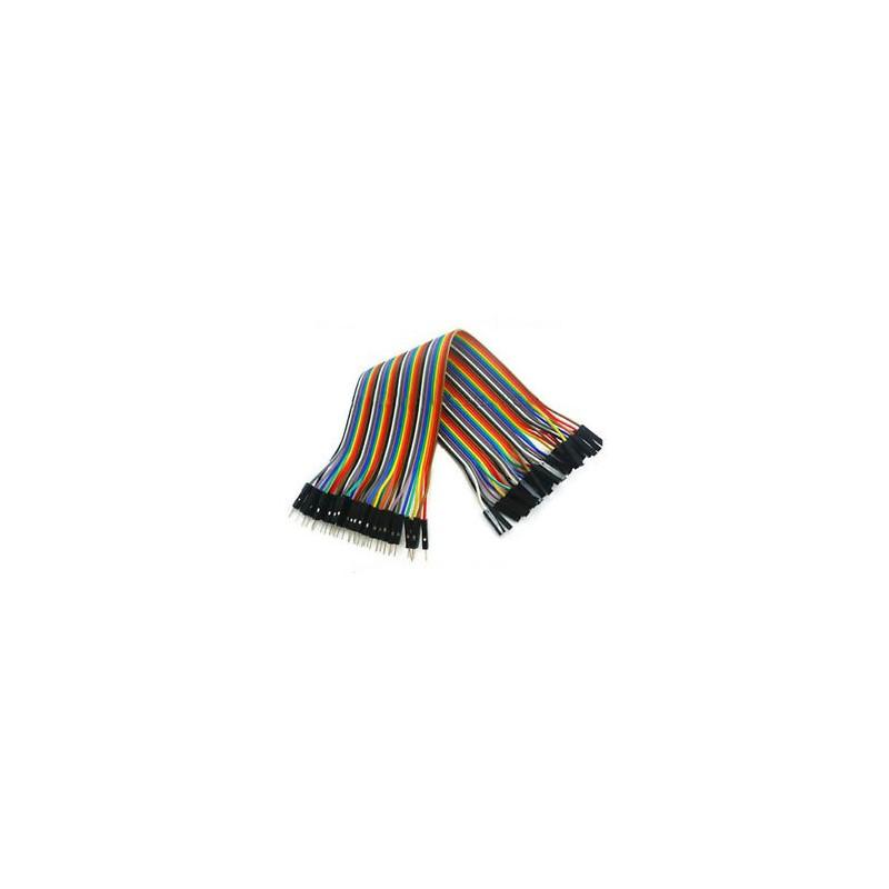 Cable dupont de 40 vías 20cm macho-hembra de hilo de cobre