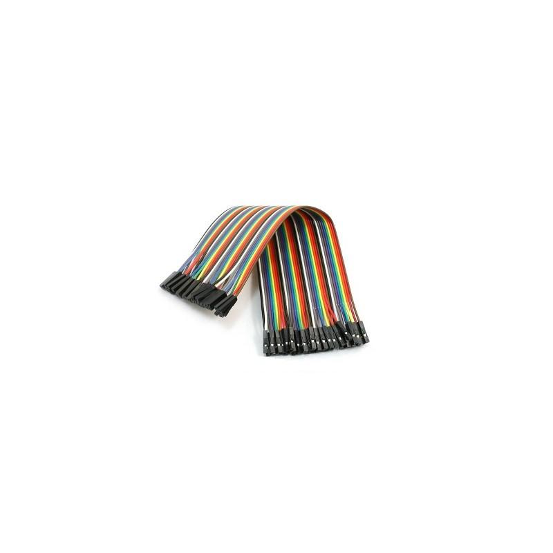 Cable dupont de 40 vías 20cm hembra-hembra con hilo de cobre