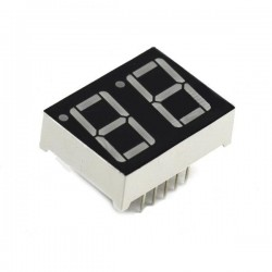 "LED display 2x7 seg. Ánodo común 0.56"""