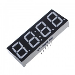LED display 4x7 seg. Tipo reloj, ánodo común 0.56''
