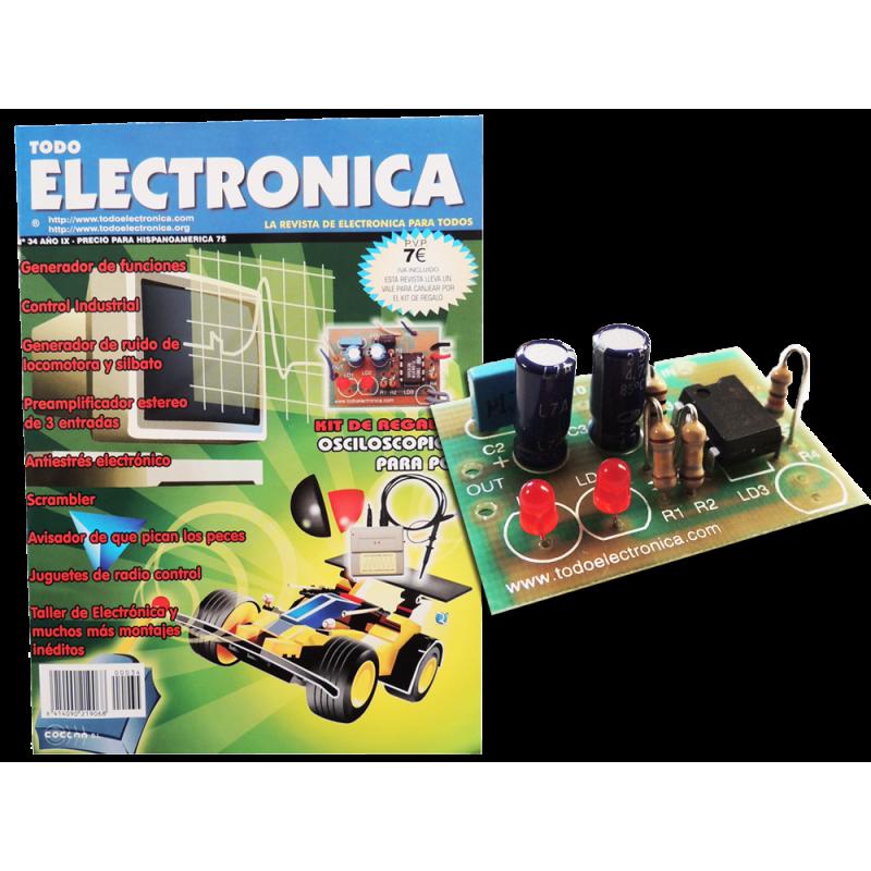 Revista Todoelectronica Nº34 + Kit electrónico Osciloscopio para PC