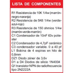 Revista Todoelectronica Nº22 + Kit electrónico Bug telefónico F.M.