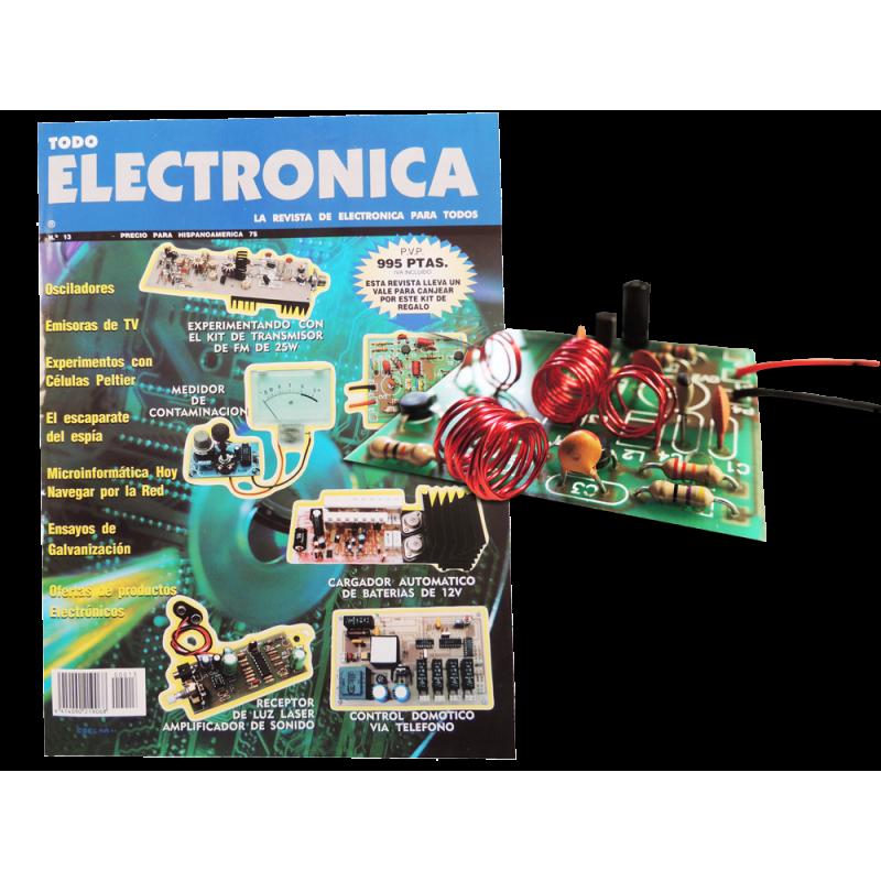 Revista Todoelectronica Nº13 + Kit electronico para montar, emisor de TV