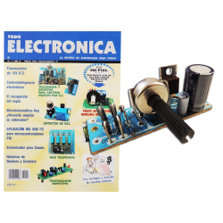 Revista Todoelectronica Nº11 + Kit electrónico Fuente de alimentación 0-12V= máx 0,8A