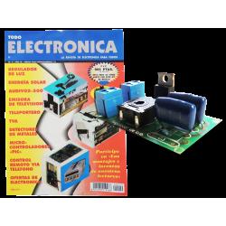 Revista Todoelectronica Nº9 + Kit electrónico regulador de luz