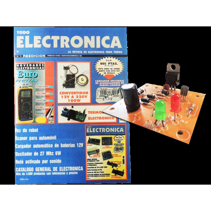 Revista Todoelectronica Nº5 + Kit electrónico Cargador de acumuladores de níquel-cadmio