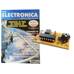 Revista Todoelectronica Nº4 + Kit electrónico Codificador/decodificador de sonido