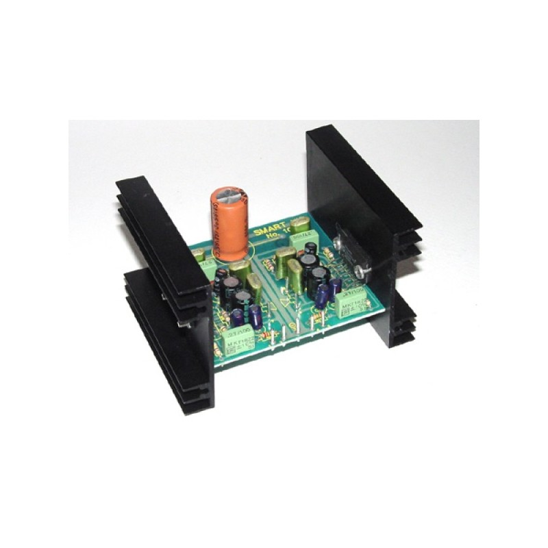 Kit electrónico para montar un amplificador booster de 2 x 25 Watios