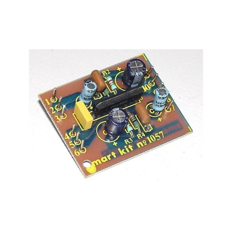 Kit para montar un preamplificador estéreo para cabeza de casette