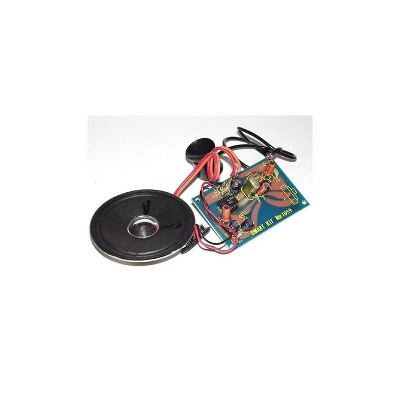 Kit electrónico para montar un amplificador para la línea telefónica