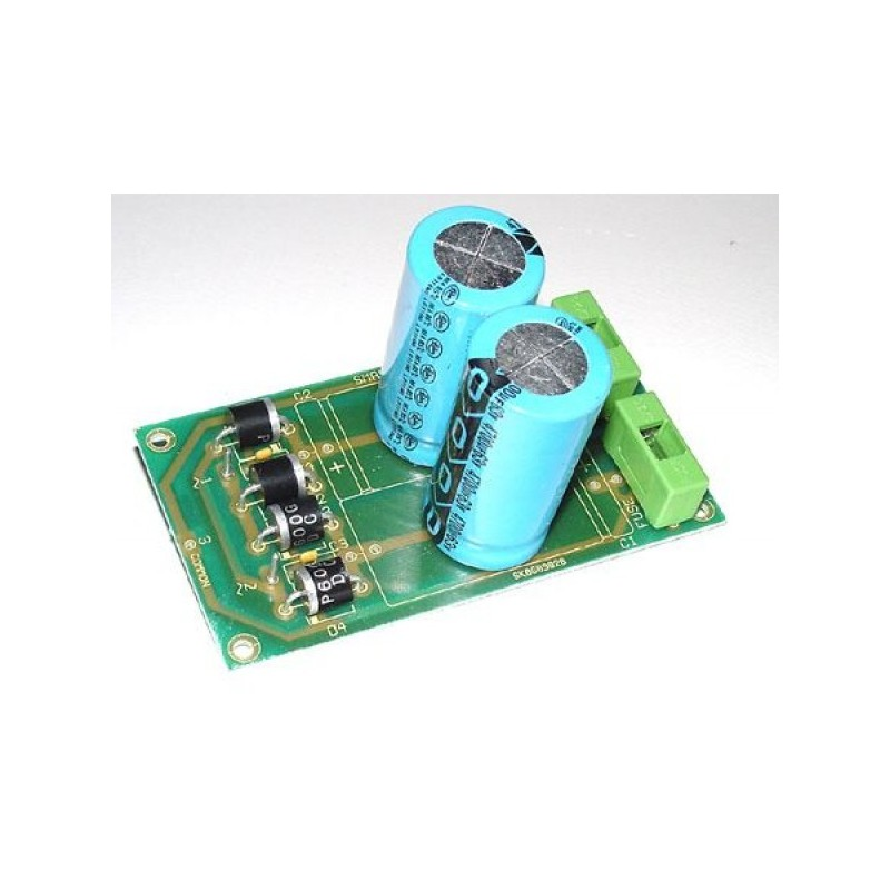 Kit electrónico para montar un alimentador dual tensión: +- 40 V a 8 A