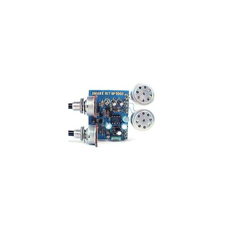Kit electrónico para montar un interfono para uso en motos y doméstico