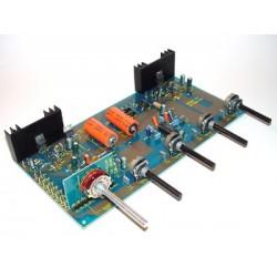 Kit electrónico para montar un amplificador estéreo I.C. 2 x 18 Vatios