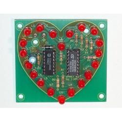 Kit electrónico para montar un efecto luminoso 20 LED forma de corazón