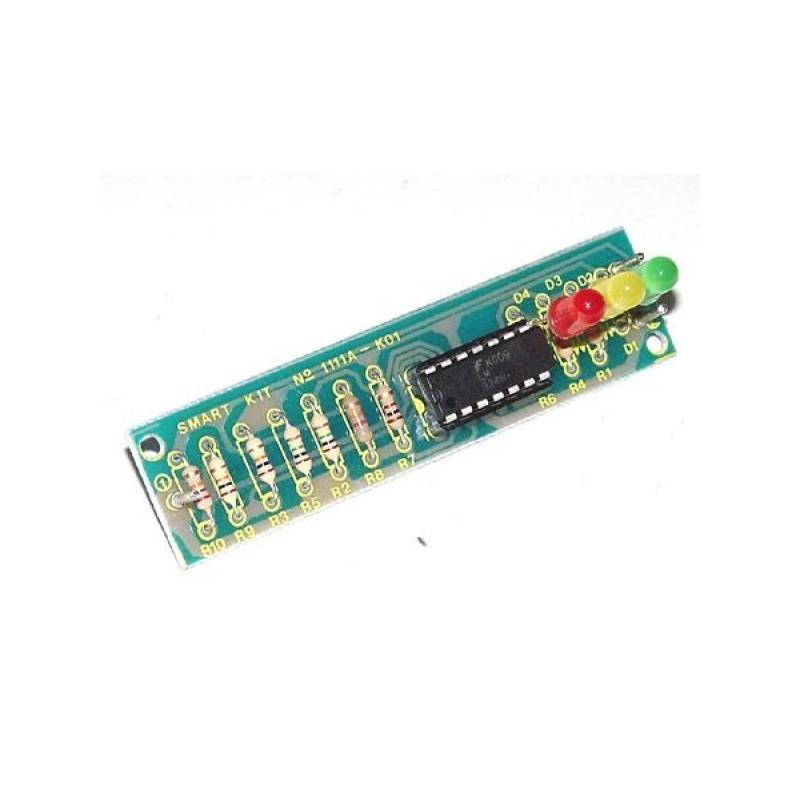 Kit electrónico para montar un indicador de estados lógicos 22 x 80 mm