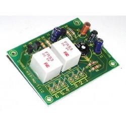 Kit para montar una protección electrónica para dos cajas acústicas