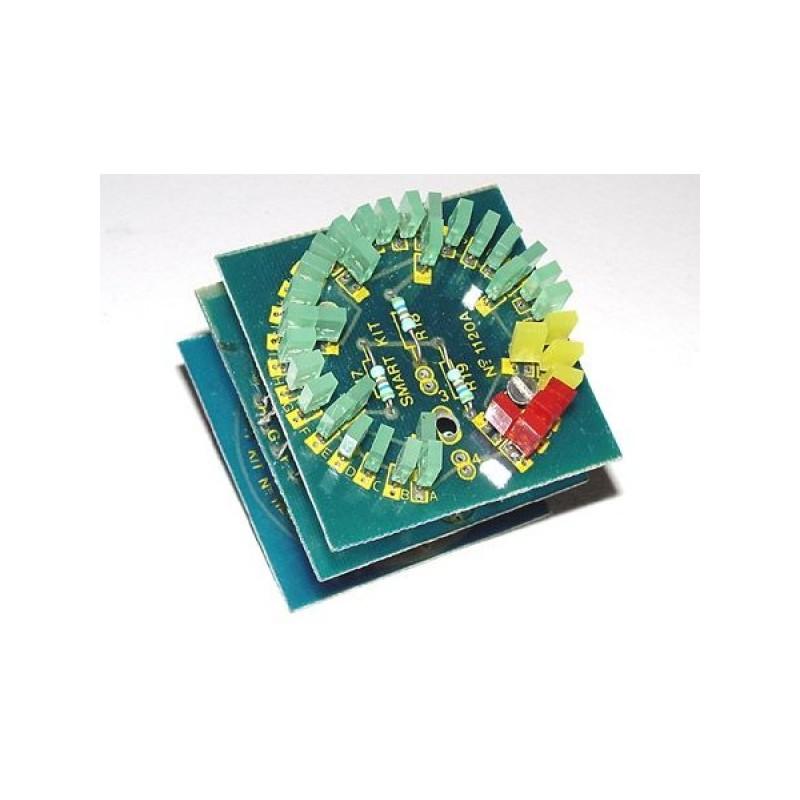 Kit electrónico para montar un medidor analógicos de revoluciones LEDs