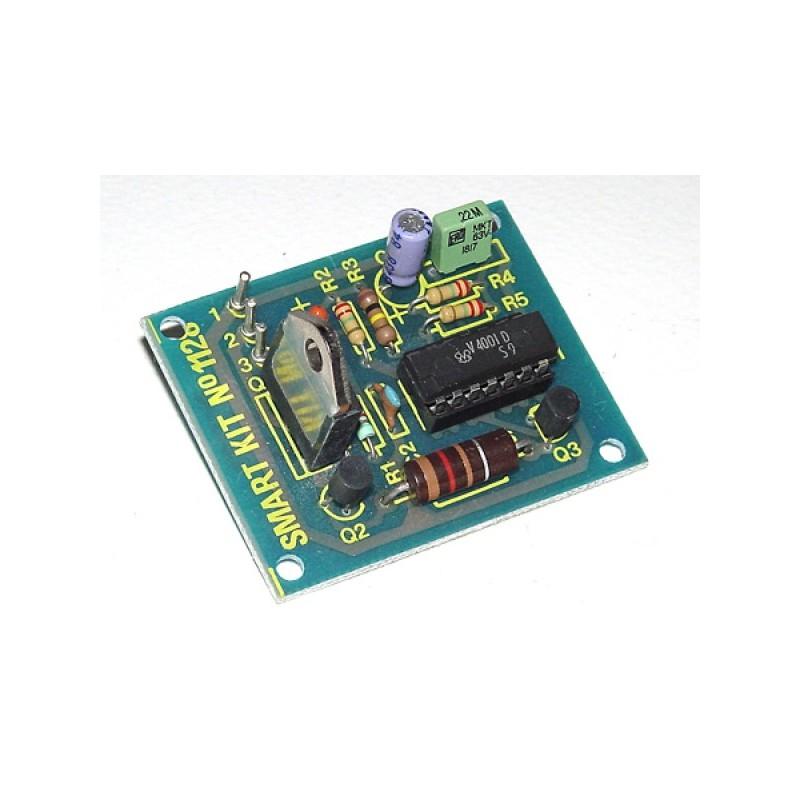 Kit electrónico para montar un generador de luces intermitentes 12 VCC