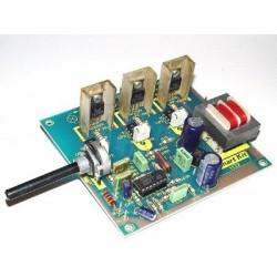 Kit electrónico para montar un efecto de luces psicodélicas. 3 canales