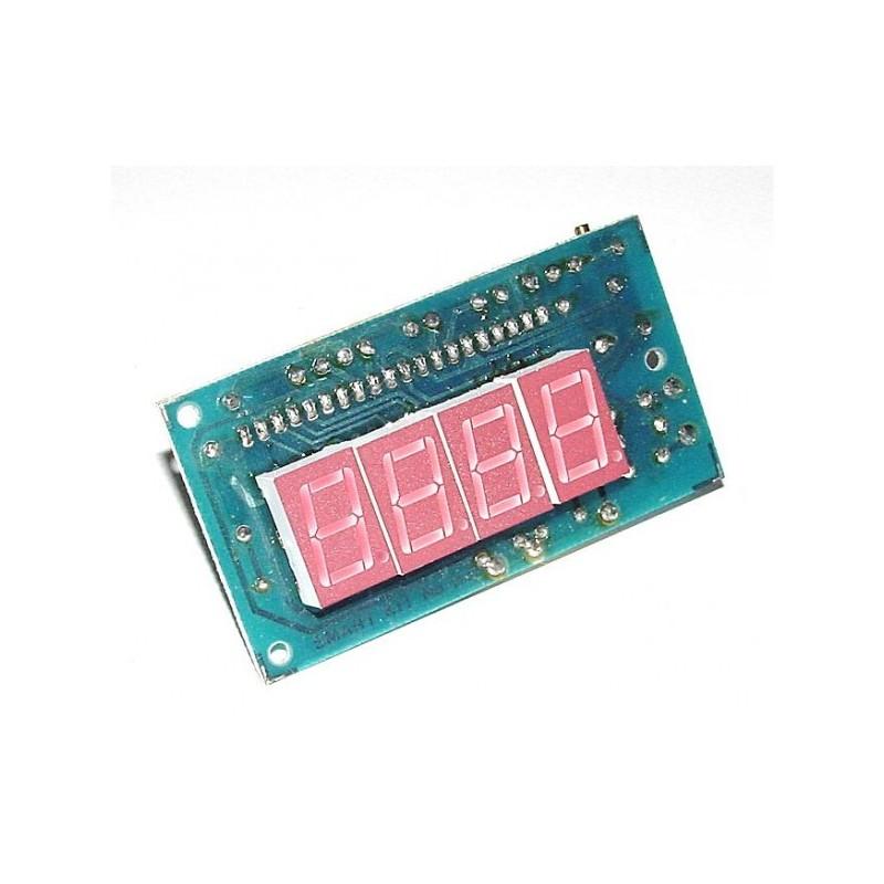 Kit electrónico para montar un voltímetro digital con display a LED's