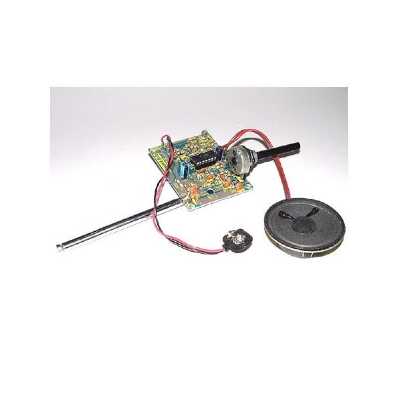 Kit electrónico para montar un detector de escuchas de 1-1000 MHz 30mA