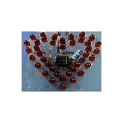Kit electrónico para montar un efecto luminoso con forma de corazón
