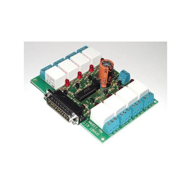 Kit electrónico para montar un temporizador de 8 canales para ordenador