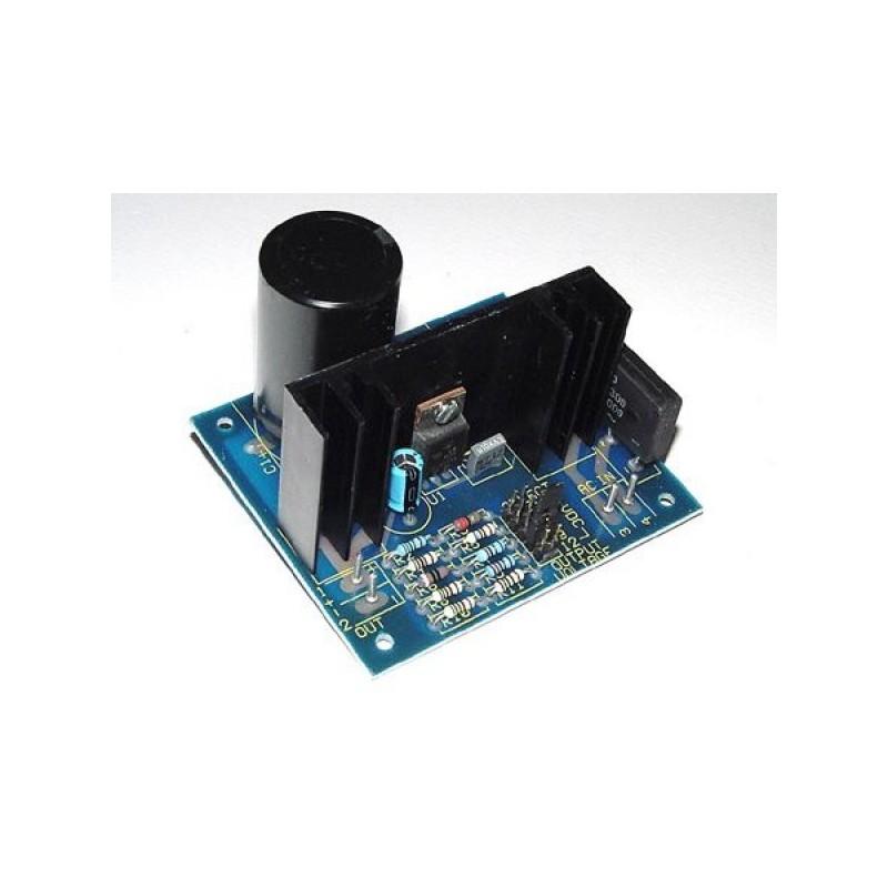 Kit electrónico para montar una fuente de alimentación estabilizadora