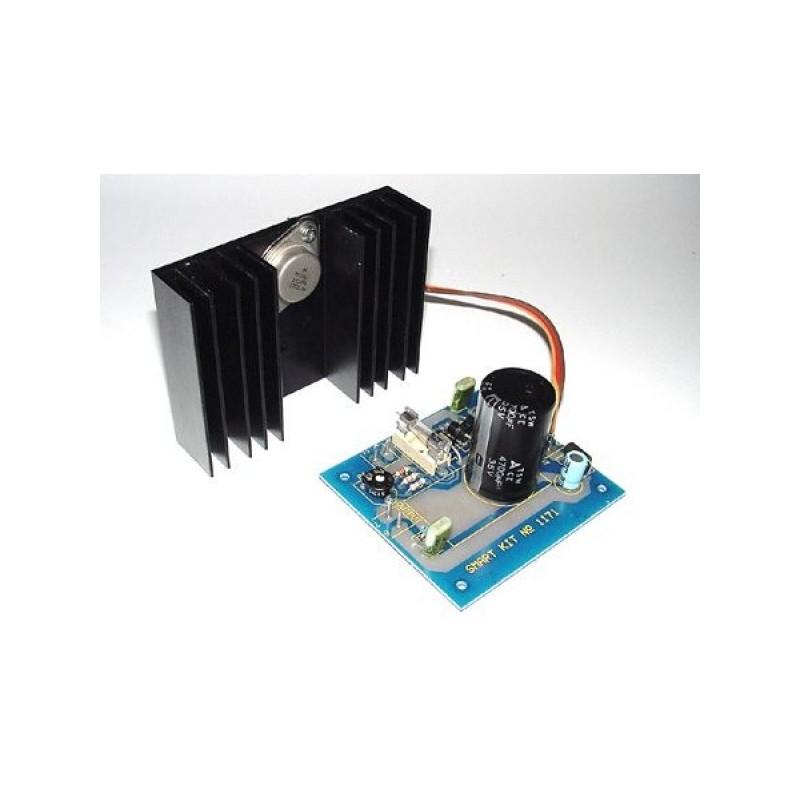 Kit para montar una Fuente de alimentación regulada RFI de 12-14V y 3A