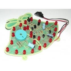 Kit electrónico para montar unas campanas navideñas de 24 LED 85x120mm