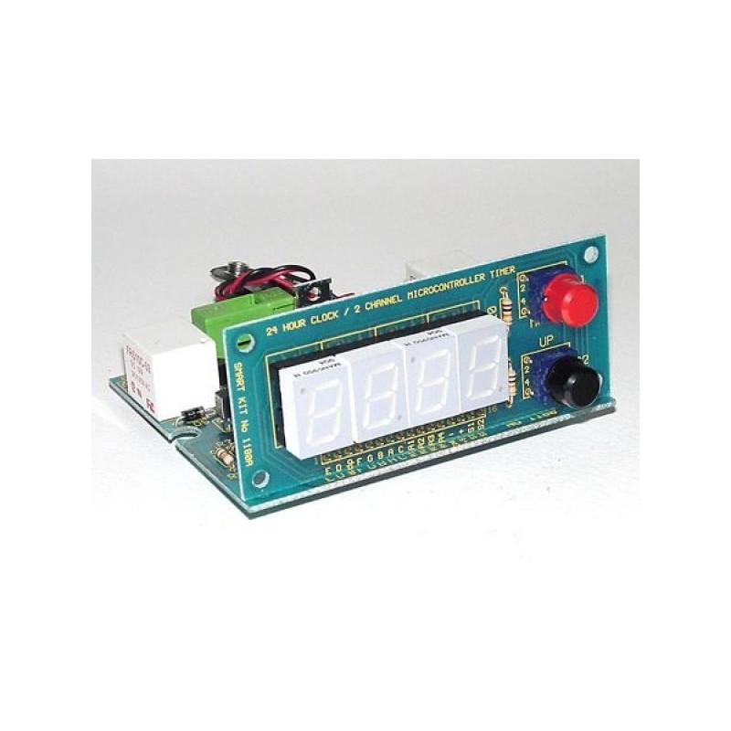 Kit electrónico para montar un reloj 24 horas con dos salidas a 250VAC