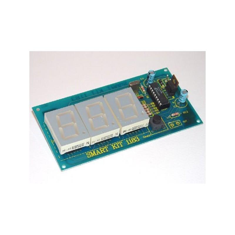 Kit electrónico para montar un contador digital con tres displays
