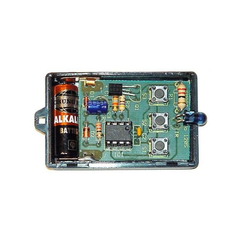 Kit para montar un transmisor por infrarrojo de tres canales 10 metros