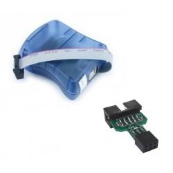 Programador AVR MKII para microcontroladores Atmel + Adaptador Arduino