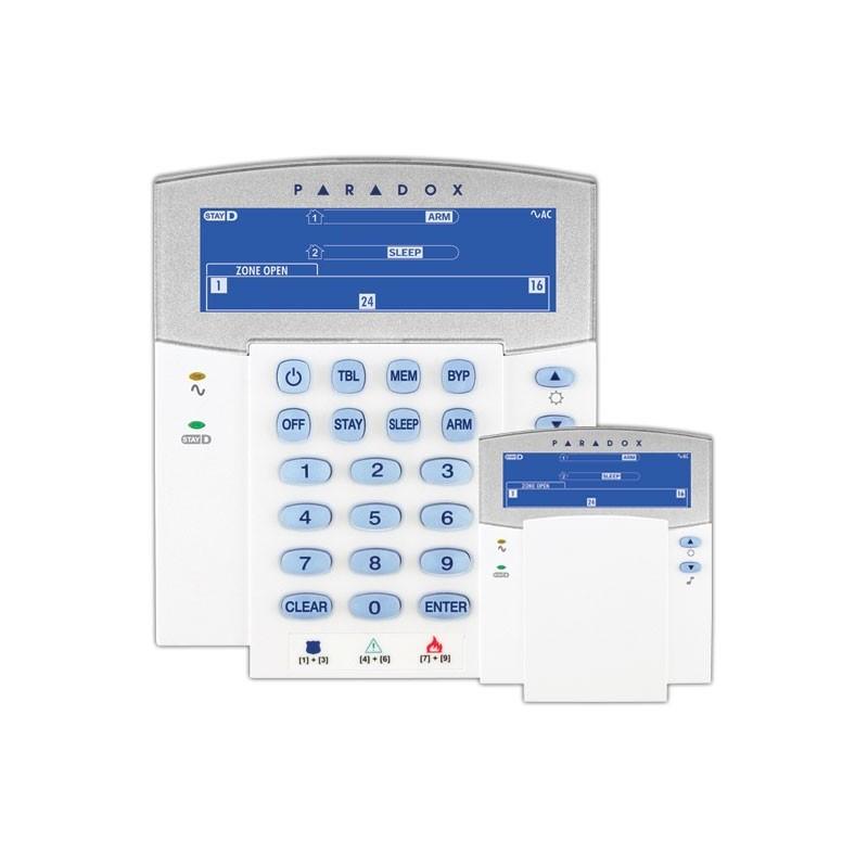 Teclado alarma paradox k35 LCD con iconos